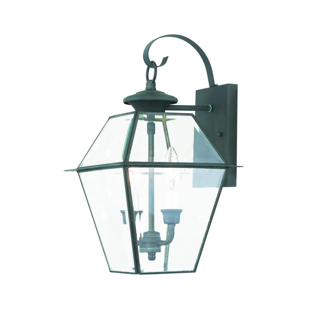 Westover 17 Inch Tall 2 Light Outdoor Wall Light by Livex Lighting