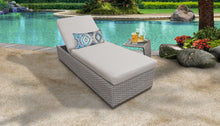 Load image into Gallery viewer, Monterey Chaise Outdoor Wicker Patio Furniture With Side Table