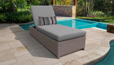 Monterey Wheeled Chaise Outdoor Wicker Patio Furniture