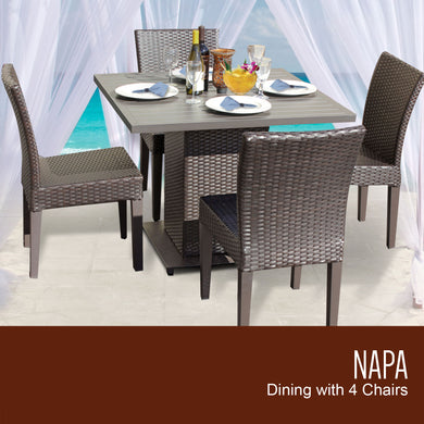 Napa Square Dining Table with 4 Chairs