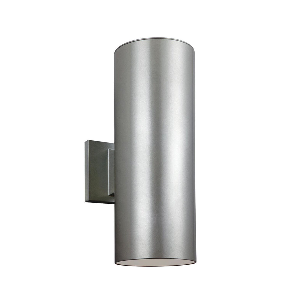 Outdoor Cylinders 14 Inch Tall 2 Light Outdoor Wall Light by Sea Gull Lighting