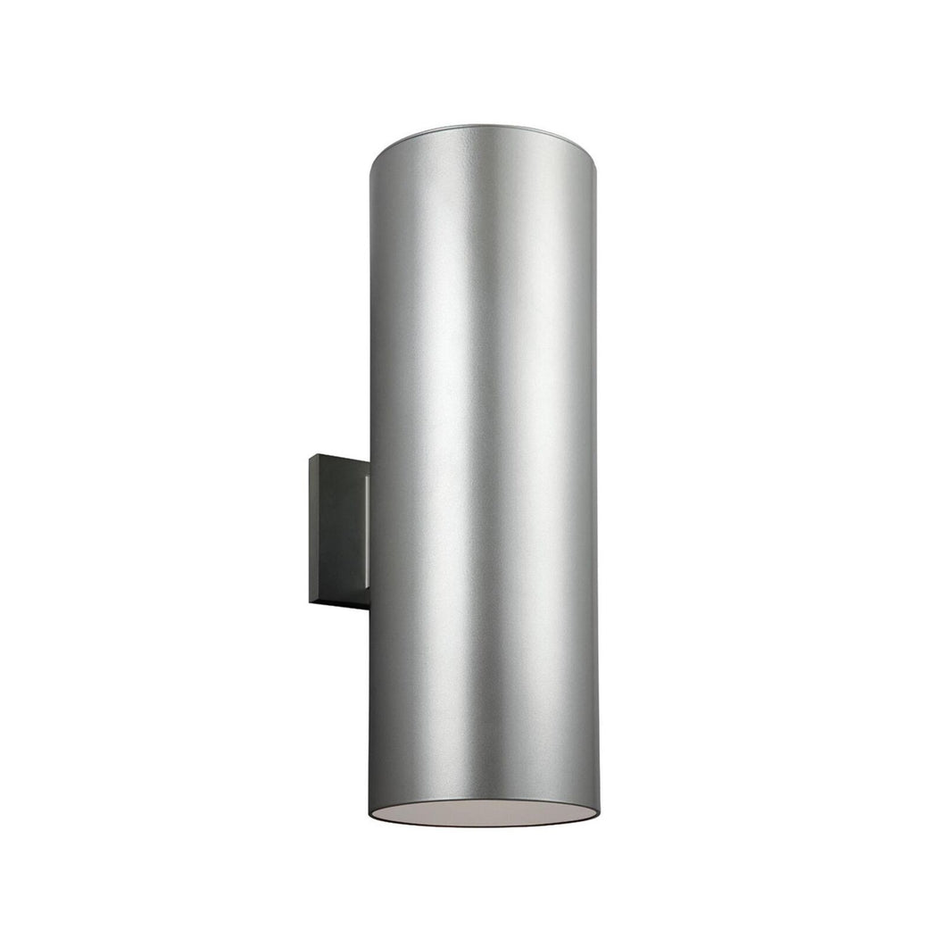Outdoor Cylinders 18 Inch Tall 2 Light Outdoor Wall Light by Sea Gull Lighting
