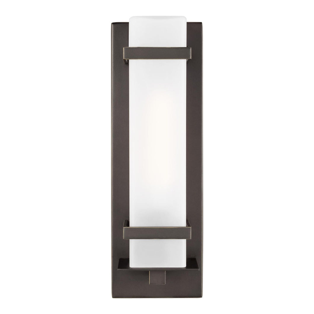 Alban 14 Inch Tall 1 Light Outdoor Wall Light by Sea Gull Lighting