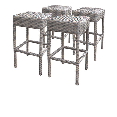 4 Oasis Backless Barstools