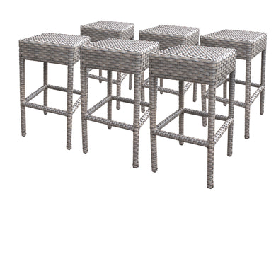 6 Oasis Backless Barstools