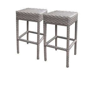 2 Oasis Backless Barstools