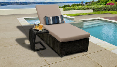 Venice Chaise Outdoor Wicker Patio Furniture With Side Table
