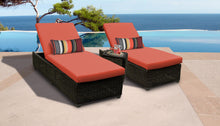 Load image into Gallery viewer, Venice Chaise Set of 2 Outdoor Wicker Patio Furniture With Side Table