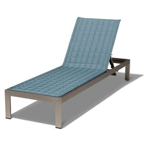 Weekend Water-Resistant 80 Inch Patio Chaise Slipcover, Blue Shadow