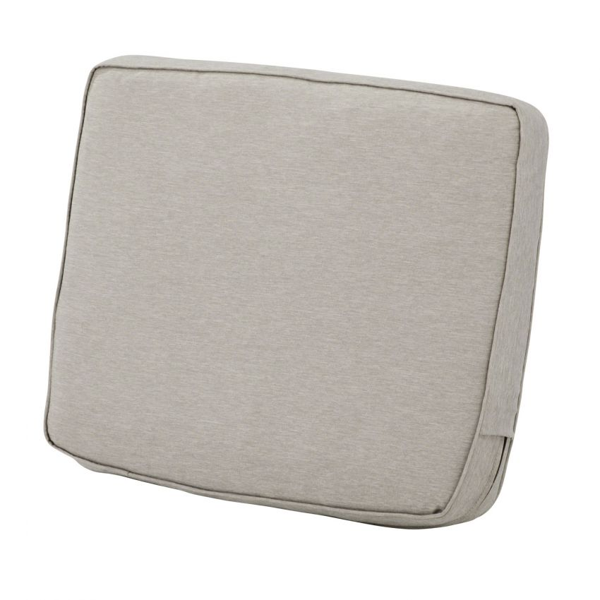 Montlake FadeSafe Water-Resistant 23 x 20 x 4 Inch Patio Lounge Back Cushion, Heather Grey