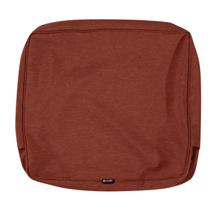 Classic Accessories Montlake Water Resistant 25 18 4 Inch Patio Back Cushion Slip Cover Heather Henna Red