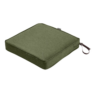 Classic Accessories Montlake Water Resistant 19 19 3 Inch Patio Seat Cushion Heather Fern Green