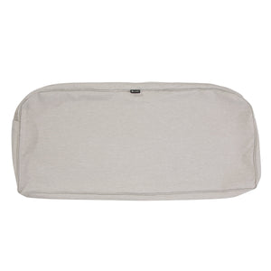 Classic Accessories Montlake Water Resistant 41 18 3 Inch Patio Bench Settee Cushion Slip Cover Heather Grey