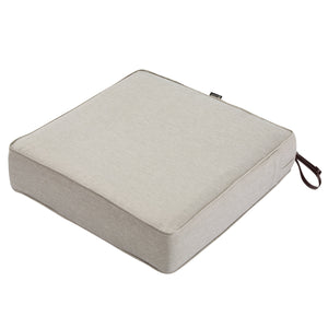 Classic Accessories Montlake Water Resistant 25 25 5 Inch Patio Seat Cushion Heather Grey