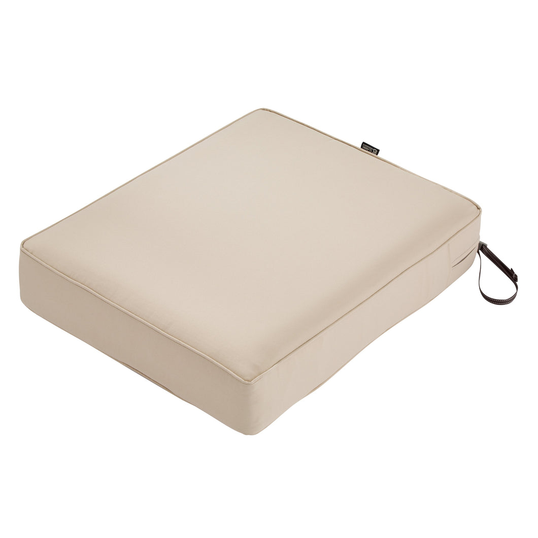 Classic Accessories Montlake Water Resistant 21 25 5 Inch Patio Seat Cushion Antique Beige
