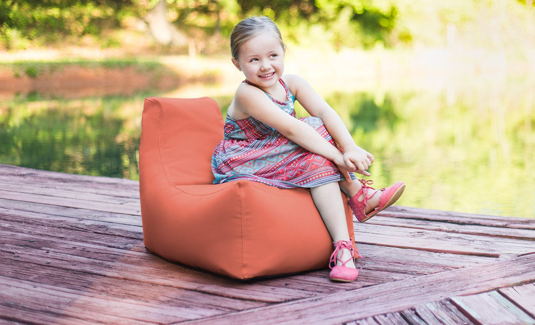 Kids Juniper Outdoor Bean Bag Chair Flamingo - Backyard Home Oasis