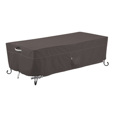 Classic Accessories Ravenna Water Resistant 60 Inch Rectangular Fire Pit Table Cover