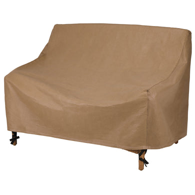 Duck Covers Essential Water Resistant 70 Inch Patio Love Seat Cover
