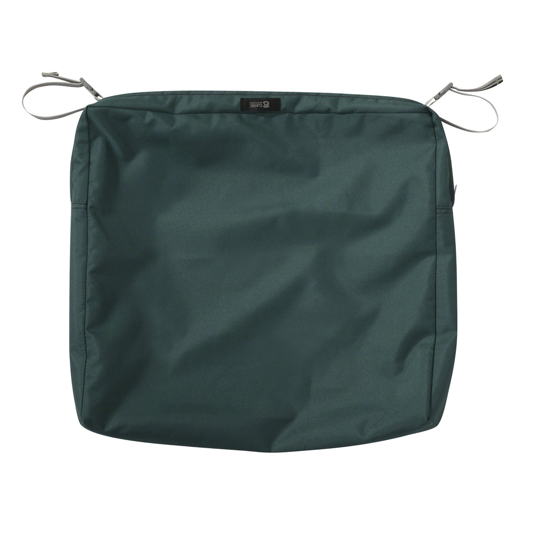 Classic Accessories Ravenna Water Resistant 21 19 3 Inch Patio Seat Cushion Slip Cover Mallard Green