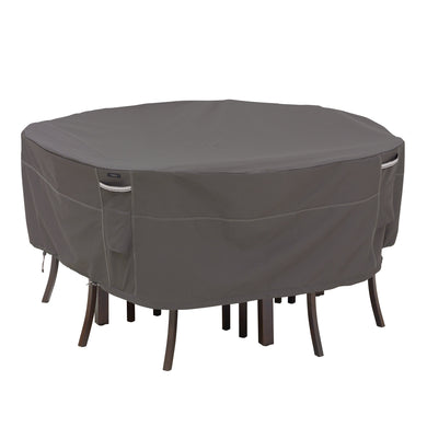 Classic Accessories Ravenna Water Resistant 94 Inch Round Patio Table Chair Set Cover