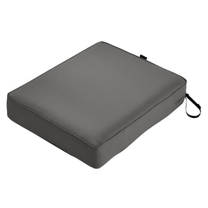 Classic Accessories Montlake Water Resistant 21 25 5 Inch Patio Seat Cushion Light Charcoal Grey