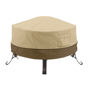 Classic Accessories Veranda Water Resistant 30 Inch Full Coverage Round Fire Pit Cover