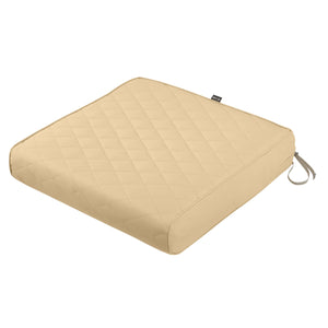 Classic Accessories Montlake Water Resistant 25 27 5 Inch Rectangle Patio Quilted Lounge Cushion Chamomile