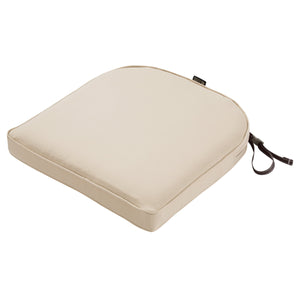 Classic Accessories Montlake Water Resistant 20 x 20 x 2 Inch Contoured Patio Dining Seat Cushion Antique Beige