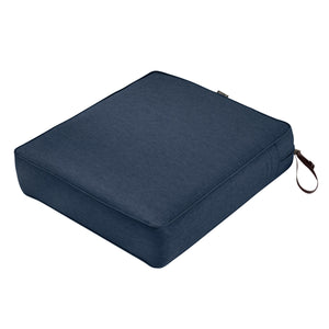 Classic Accessories Montlake Water Resistant 23 25 5 Inch Patio Seat Cushion Heather Indigo Blue
