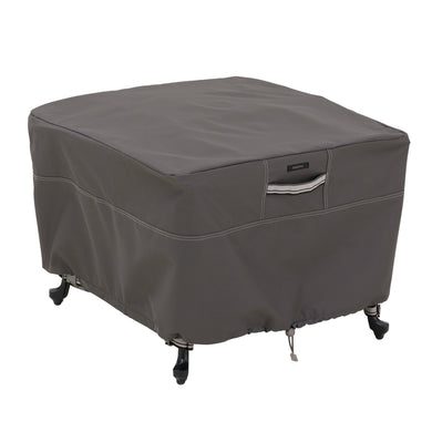 Classic Accessories Ravenna Water Resistant 26 Inch Square Patio Ottoman Table Cover