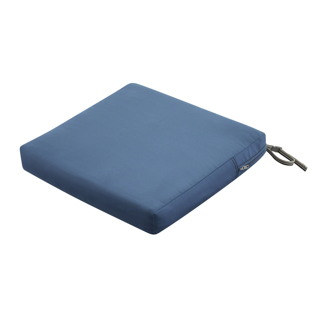 Classic Accessories Ravenna Water Resistant 20 19 3 Inch Patio Seat Cushion Empire Blue