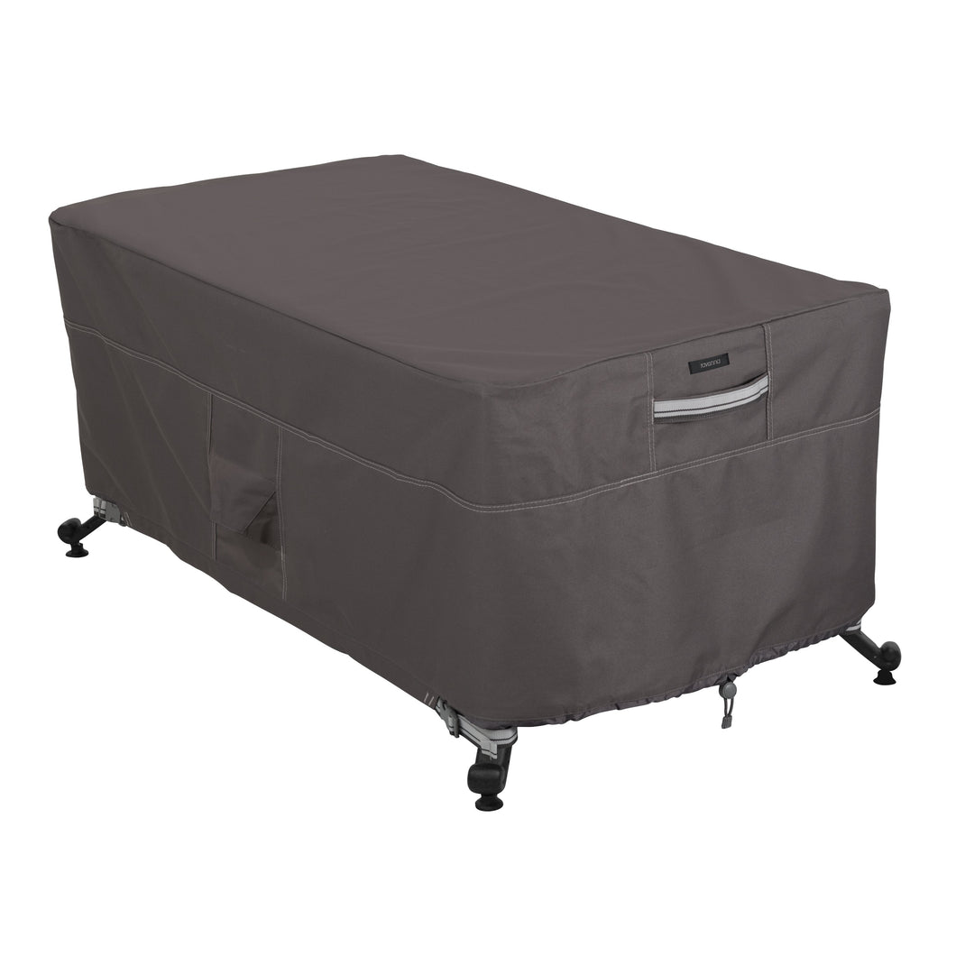 Classic Accessories Ravenna Water Resistant 56 Inch Rectangular Fire Pit Table Cover
