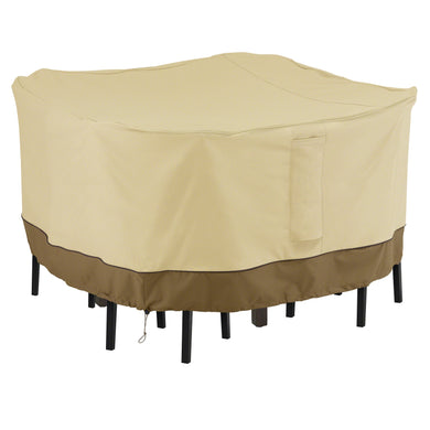 Classic Accessories Veranda Water Resistant 66 Inch Square Bar Table Chair Set Cover
