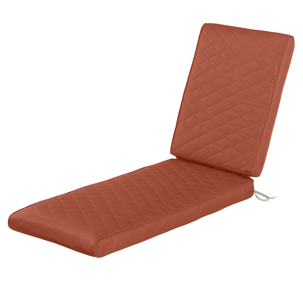 Classic Accessories Montlake Water Resistant 80 26 3 Inch Rectangle Patio Quilted Chaise Lounge Cushion Spice