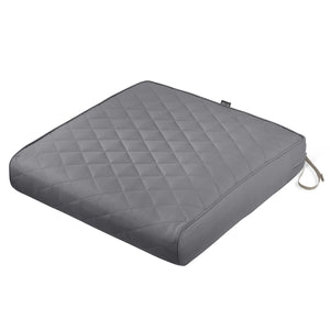 Classic Accessories Montlake Water Resistant 25 27 5 Inch Rectangle Patio Quilted Lounge Cushion Grey