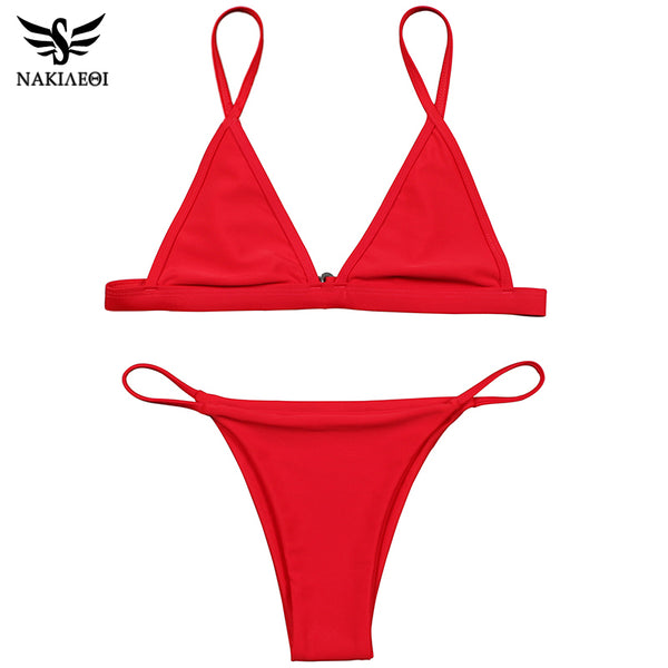 NAKIAEOI Sexy Mini Micro Bikini Swimwear Women Swimsuit 2017 Summer Brazilian Bikini Set Beach Bathing Suits Swim Wear Biquini