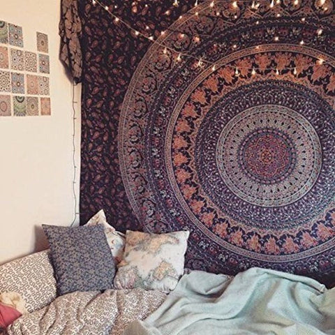 Deep Purple Mandala Tapestry