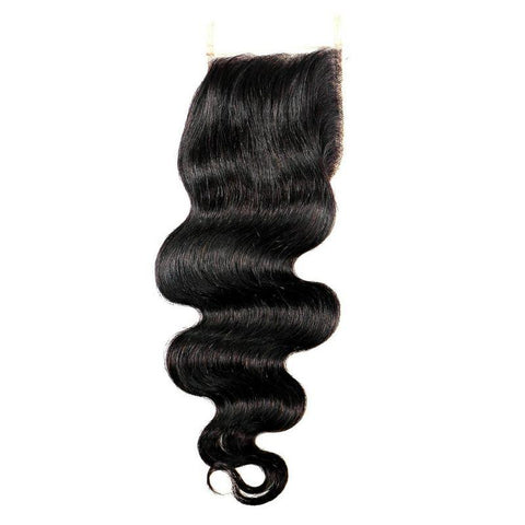 Brazilian Body Wave Closure Hair Extension - 100% Remy Human Hair
