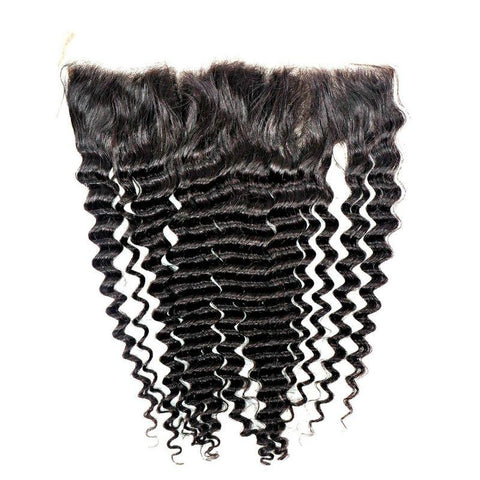 Brazilian Deep Wave 18″ Frontal Hair Extensions - 100% Remy Human Hair