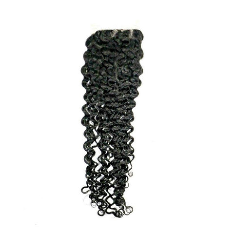 Brazilian Kinky Curly Closure Hair Extension - 100% Remy Human Hair