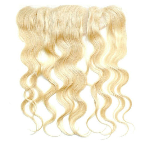 "Brazilian Blonde Body Wave Frontal 18"" Hair Extension - 100% Remy Human Hair"