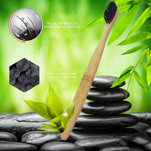 Eco-Friendly Charcoal Teeth Whitening Toothbrush
