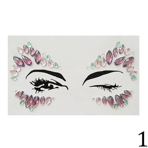 3D Crystal Tattoo Adhesive Face & Body Jewels