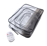 3 piece Set Clear Waterproof Packing Cubes