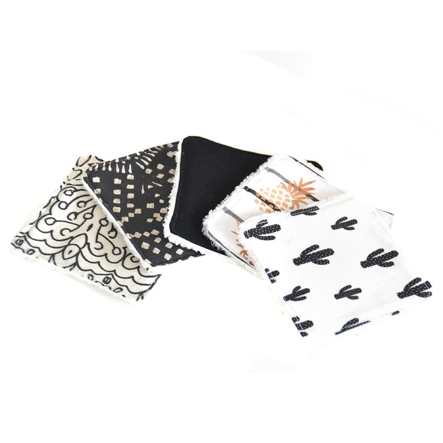 "Seshat Collection - lingettes réutilisables ! LOT ""Black & White"""