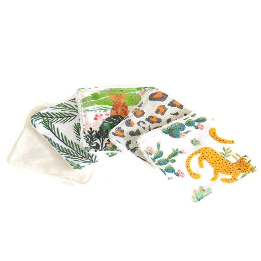 "Seshat Collection - lingettes réutilisables ! LOT ""Jungle"""