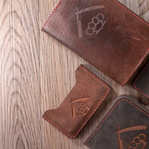 Savage Gentleman Leather Notebook Cover and Minimalist Wallet