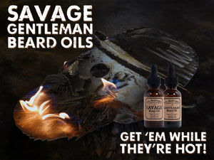 Savage Gentleman Beard Oil Burning Skull