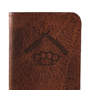 Water Buffalo Leather Notebook Cover