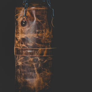 Vintage Leather Punching Bag Savage Gentleman